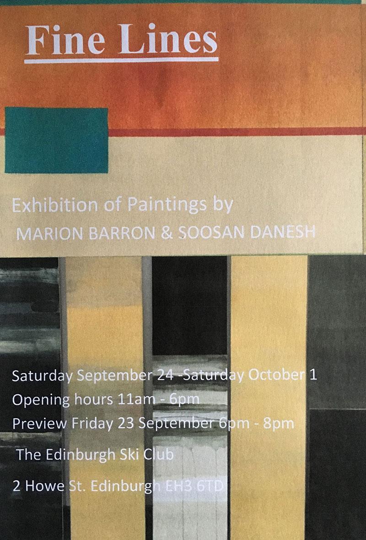 Soosan Danesh, Fine Line Exhibition, 2016