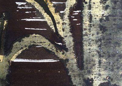 Closer, mixed media on paper, 19x16cm