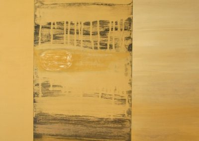 Golden Sand(Triptych), acrylic on wood, 122x75cm