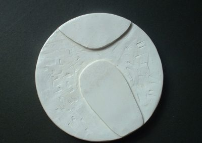 Moon Porcelain brooch, 7cm in diameter