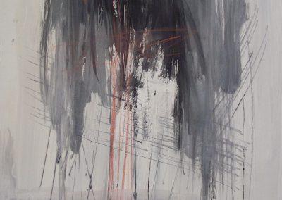 Rain I, mixed media on paper, 20x16cm
