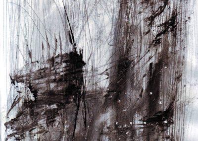 Rain II, mixed media on paper, 25x21cm