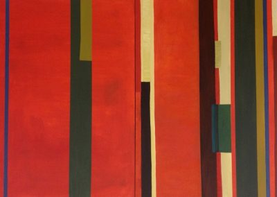 Soosan Danesh, Rhythm of East (Diptych), oil on canvas, 220x180cm