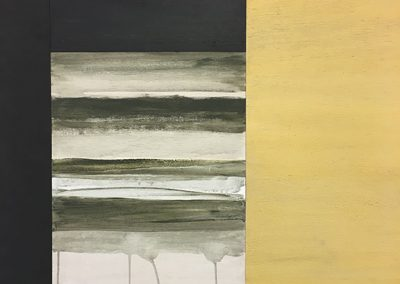 Silver Sand (Triptych), acrylic on wood, 122x85cm